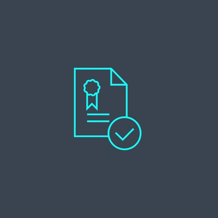 standard concept blue line icon. Simple thin element on dark background. standard concept outline symbol design. Can be used for web and mobile UI