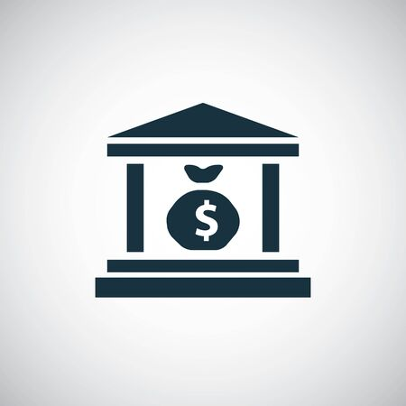 money bank icon, on white background.