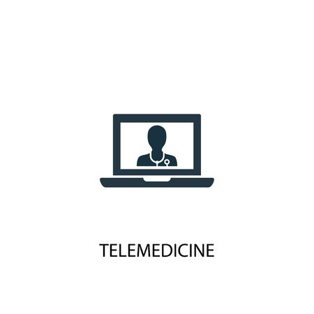 telemedicine icon. Simple element illustration. telemedicine concept symbol design. Can be used for web and mobile.  イラスト・ベクター素材