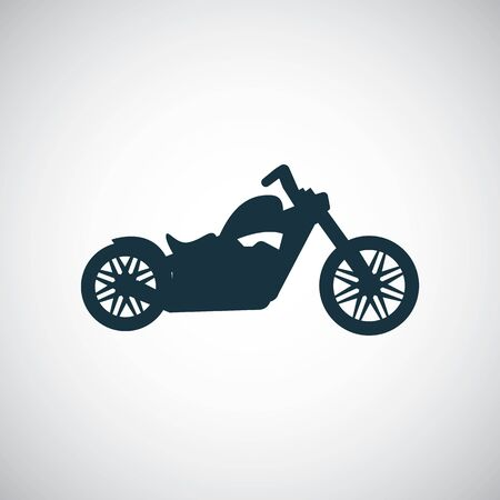 motorcycle icon, on white background. Imagens - 132646873