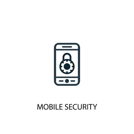 mobile security icon. Simple element illustration. mobile security concept symbol design. Can be used for web and mobile.