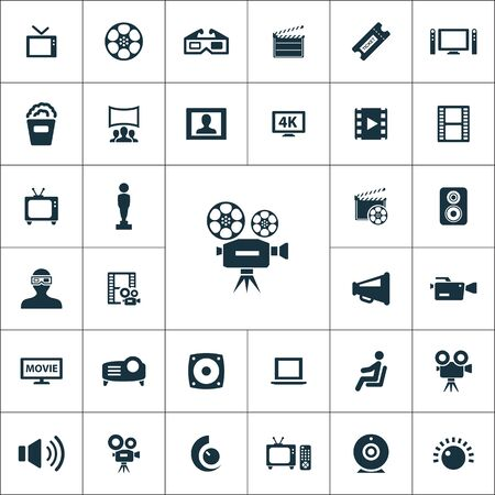 cinema icons universal set for web and mobile.