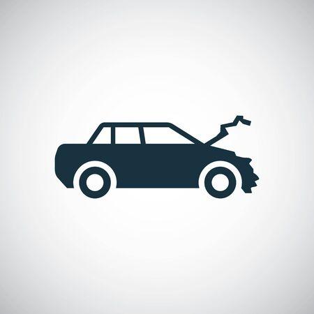 car crash icon, on white background. 向量圖像