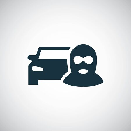 car thief icon, on white background.