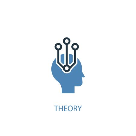 theory concept 2 colored icon. Simple blue element illustration. theory concept symbol design. Can be used for web and mobile Ilustração