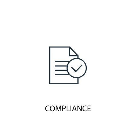 compliance concept line icon. Simple element illustration. compliance concept outline symbol design. Can be used for web and mobile Stok Fotoğraf - 133743371