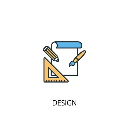 design concept 2 colored icon. Simple blue element illustration. design concept symbol design. Can be used for web and mobile