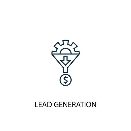 Lead Generation concept line icon. Simple element illustration. Lead Generation concept outline symbol design. Can be used for web and mobile