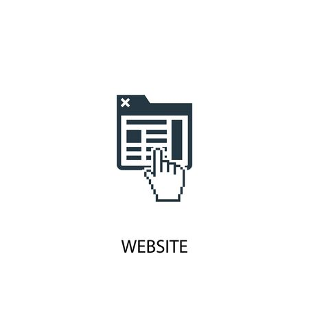 website icon. Simple element illustration. website concept symbol design. Can be used for web and mobile. Vector Illustration