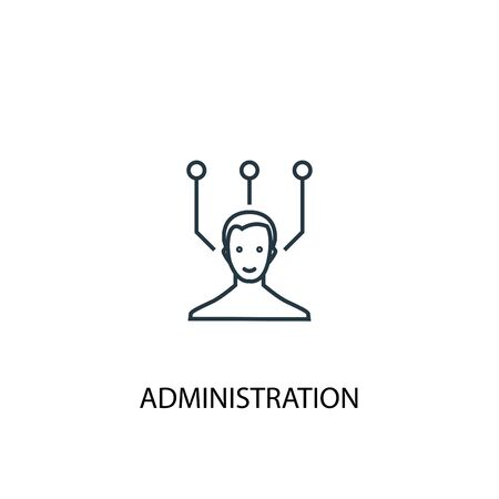 administration concept line icon. Simple element illustration. administration concept outline symbol design. Can be used for web and mobile Ilustração
