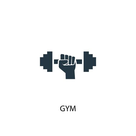 gym icon. Simple element illustration. gym concept symbol design. Can be used for web