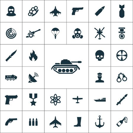 war simple icons universal set for web Ilustracja