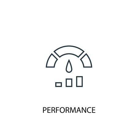 Performance concept line icon. Simple element illustration. Performance concept outline symbol design. Can be used for web and mobile