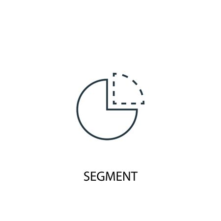 segment concept line icon. Simple element illustration. segment concept outline symbol design. Can be used for web and mobile