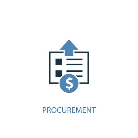 procurement concept 2 colored icon. Simple blue element illustration. procurement concept symbol design. Can be used for web and mobile