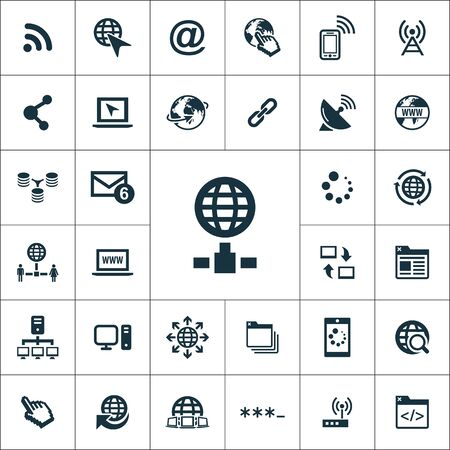 internet icons universal set for web and UI Illusztráció