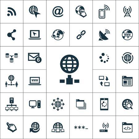 internet icons universal set for web and UI Illustration