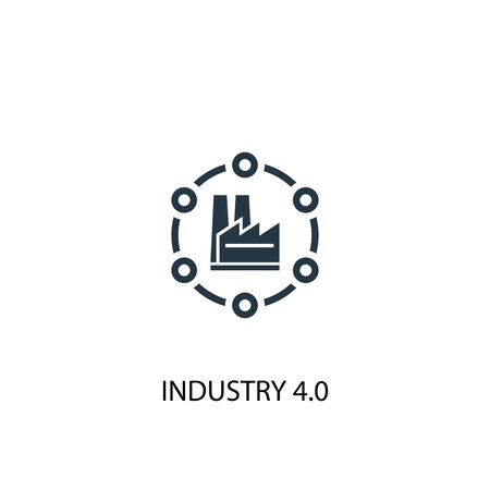 Industry 4.0 icon. Simple element illustration. Industry 4.0 concept symbol design. Can be used for web Illustration