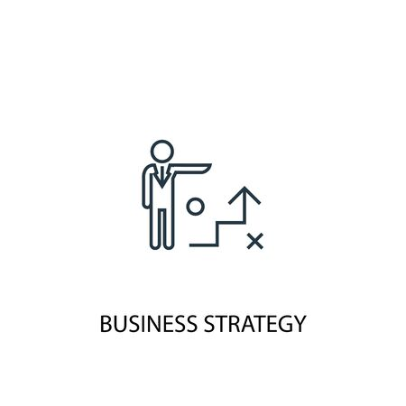 Business strategy concept line icon. Simple element illustration. Business strategy concept outline symbol design. Can be used for web and mobile Ilustração