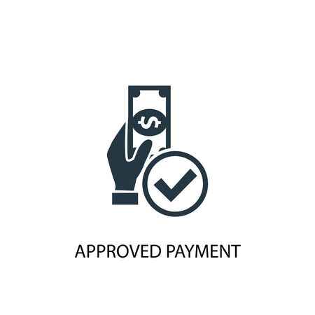 approved payment icon. Simple element illustration. approved payment concept symbol design. Can be used for web