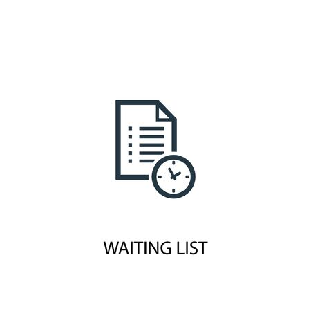 Waiting list icon. Simple element illustration. Waiting list concept symbol design. Can be used for web Ilustração