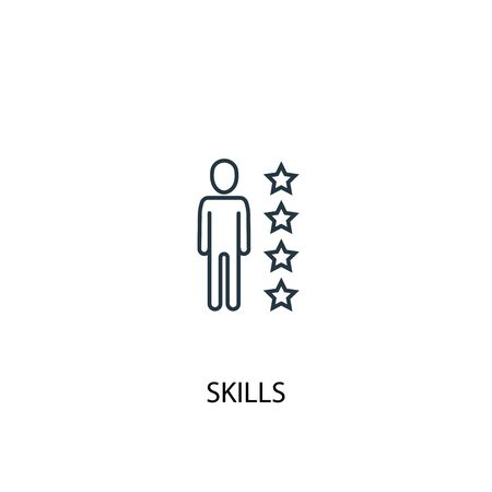 skills concept line icon. Simple element illustration. skills concept outline symbol design. Can be used for web and mobile