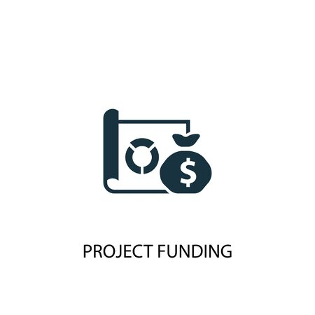 project funding icon. Simple element illustration. project funding concept symbol design. Can be used for web