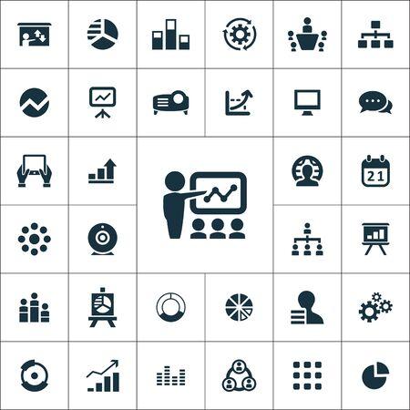 presentation icons universal set for web and UI