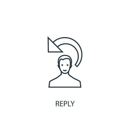 reply concept line icon. Simple element illustration. reply concept outline symbol design. Can be used for web and mobile