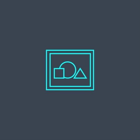 illustration concept blue line icon. Simple thin element on dark background. illustration concept outline symbol design. Can be used for web and mobile Ilustrace
