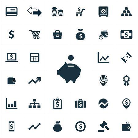 finance icons universal set for web and UI Ilustracja