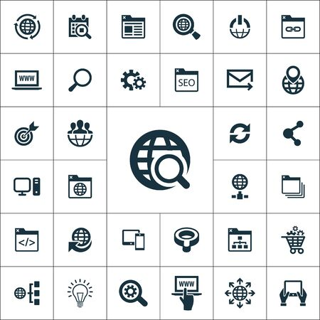 seo icons universal set for web and UI Ilustracje wektorowe