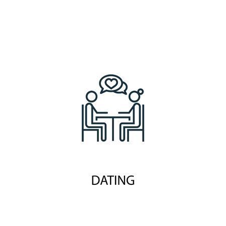 Dating concept line icon. Simple element illustration. Dating concept outline symbol design. Can be used for web and mobile 일러스트