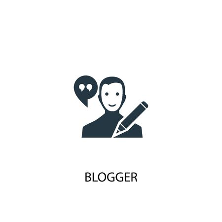 Blogger icon. Simple element illustration. Blogger concept symbol design. Can be used for web and mobile. Ilustracja