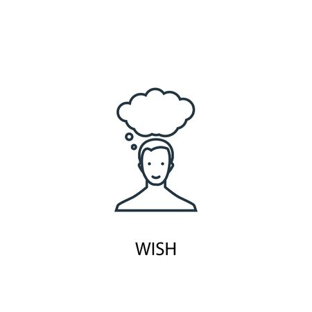wish concept line icon. Simple element illustration. wish concept outline symbol design. Can be used for web and mobile