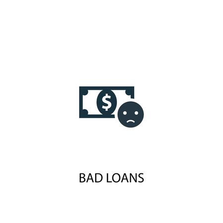 Bad loans icon. Simple element illustration. Bad loans concept symbol design. Can be used for web Ilustracja