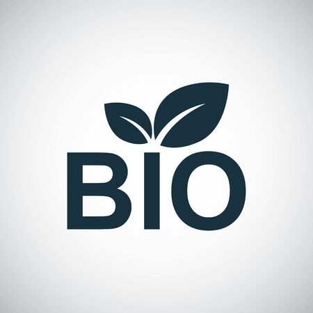 bio icon simple flat element concept design 向量圖像