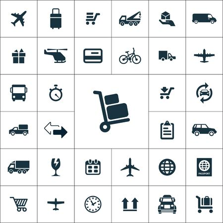 delivery icons universal set for web and UI