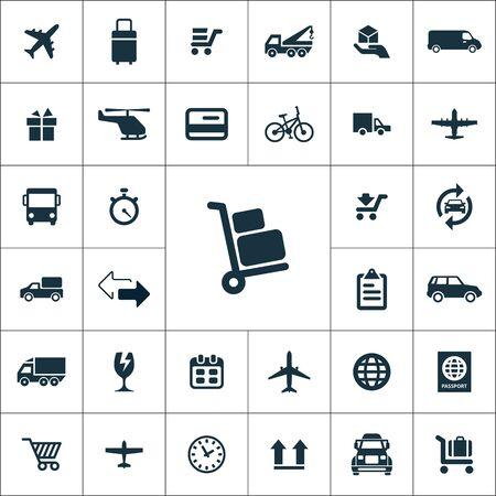 set di icone di consegna universali per web e interfaccia utente