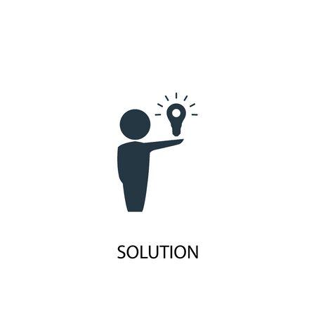 Lösungssymbol. Einfache Elementabbildung. Lösungskonzept Symboldesign. Kann für Web verwendet werden