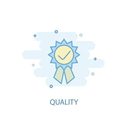 quality line concept. Simple line icon, colored illustration. quality symbol flat design Reklamní fotografie - 133748375