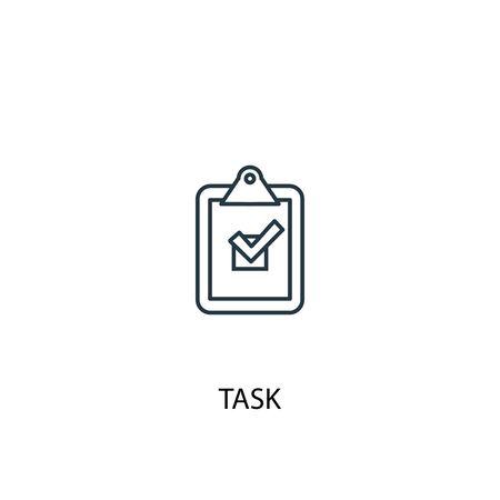 task concept line icon. Simple element illustration. task concept outline symbol design. Can be used for web and mobile Standard-Bild - 133748381