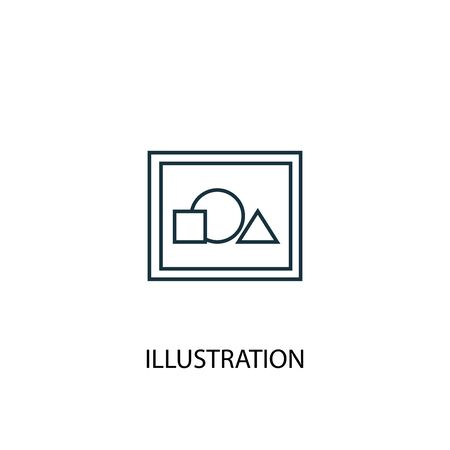 illustration concept line icon. Simple element illustration. illustration concept outline symbol design. Can be used for web and mobile Ilustração