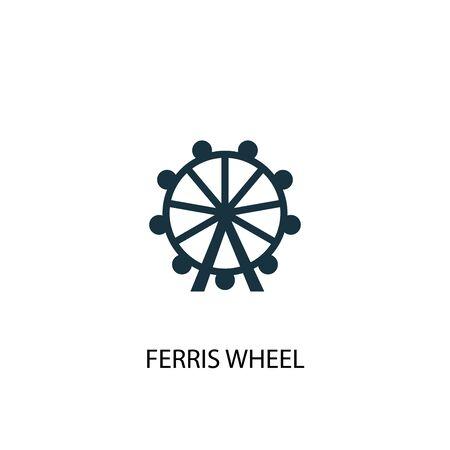 Ferris wheel icon. Simple element illustration. Ferris wheel concept symbol design. Can be used for web
