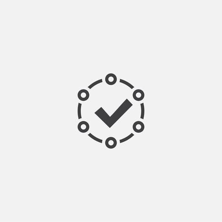 accepted base icon. Simple sign illustration. accepted symbol design. Can be used for web, and mobile Stok Fotoğraf - 133748397