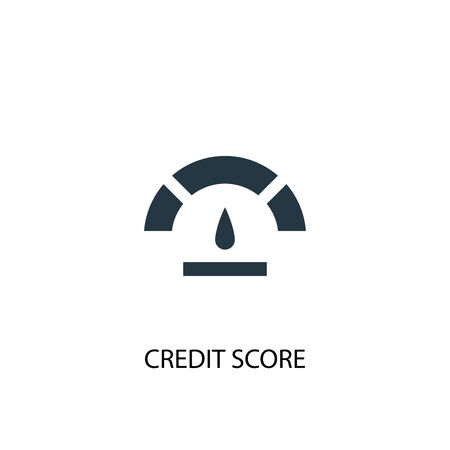 Credit score icon. Simple element illustration. Credit score concept symbol design. Can be used for web
