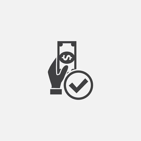 approved payment base icon. Simple sign illustration. approved payment symbol design. Can be used for web and mobile Stok Fotoğraf - 133748402