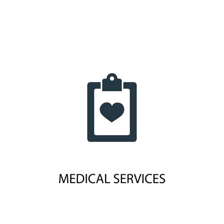 Medical services icon. Simple element illustration. Medical services concept symbol design. Can be used for web Illustration