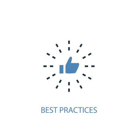 Best Practices concept 2 colored icon. Simple blue element illustration. Best Practices concept symbol design. Can be used for web and mobile