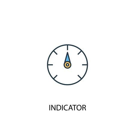 indicator concept 2 colored line icon. Simple yellow and blue element illustration. indicator concept outline design 일러스트